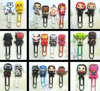Star Wars Avengers Character Charm Paperclip Bookmark Plastic