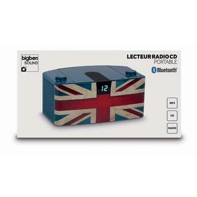 BIGBEN CD57UKBT Radio CD/MP3 Bluetooth portable - United Kingdom