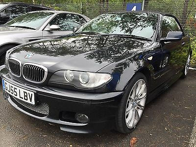 55 Bmw 320 Cd Sport Cabriolet Leather,widescreen Sat Nav, Stunning Example,vnice