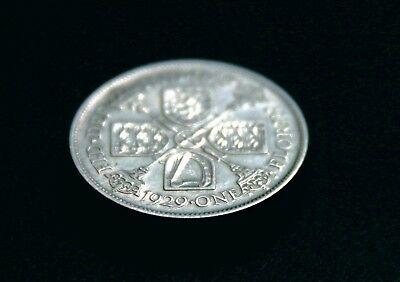1929 GEORGE V SILVER FLORIN - almost EF?; a really nice coin