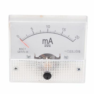 0-20mA Analog DC Current Panel Meter Ammeter 85C1-A WS Z9A5