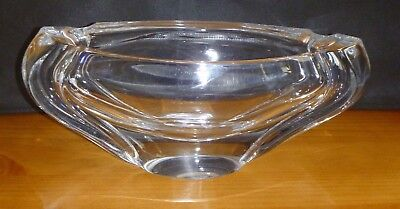 Stunning Daum  France Large French Crystal Centre Piece -Signed. Heavy
