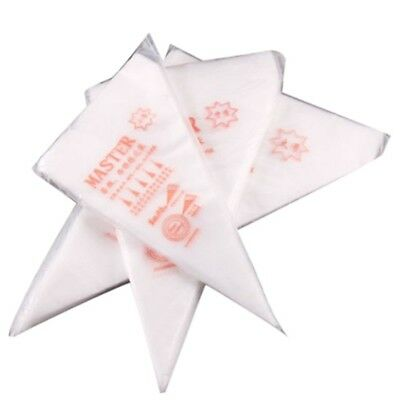 100pcs S Disposable Piping Bag Icing Fondant Cake Cream Pastry Tip Tool M4N7