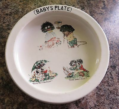 Rare Antique Losol Ware baby's plate Keeling & Co Ltd Burslem England