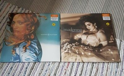 Madonna Ray Of Light Dbl blue & Like A Virgin Clear Vinyl Sainsburys NEW UK
