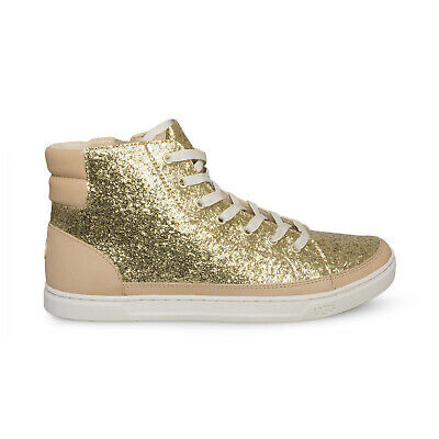 f6ca5efd607 UGG GRADIE GLITTER Gold Leather Lace Up Womens Shoes Size Us 9.5/uk 8 New