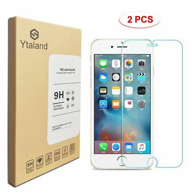 Ytaland 2Pcs 9H+ Tempered Glass Screen Protector For Apple iPhone 8 / 8 Plus