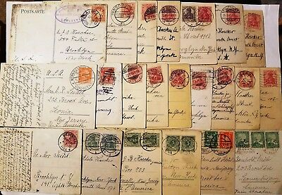 Lot of Old German Postcards (37) 1904-1928 Cancelled Stamps