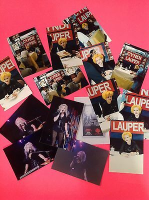 "Cyndi Lauper 15 Different Candid 4 X 6"" Photographs Photos"