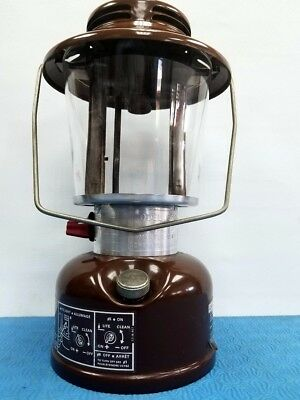 Amazing Condition Vintage Coleman 621B EASI-LITE DELUXE Brown Lantern Globe 1978