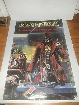 Vintage 1986 Iron Maiden Stranger In A Strange Land Fan Club Poster Metal 22x34""