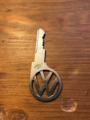 Vintage VW Volkswagen Car Key Cut-Out VW Logo Bug Bus Van Beetle