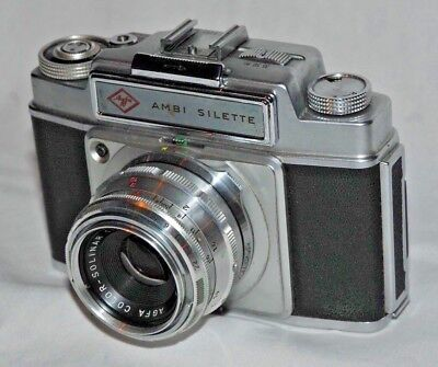 AGFA: AMBI SILETTE mit COLOR-SOLIGON 2,8/50 - sehr guter Zustand!