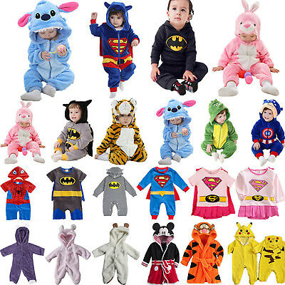 Toddler Baby Kids Hooded Romper Kigurumi Animal Cosplay Costume Bodysuit Outfits