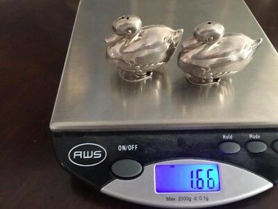 Tiffany Sterling silver ducks novelty salt and pepper NO RESERVE