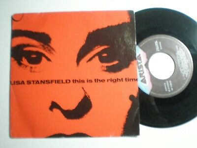 LISA STANSFIELD This Is The Right Time SPAIN 45 1989