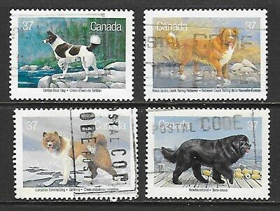 1988 Canada Canadian dogs full set of 4 stamps used