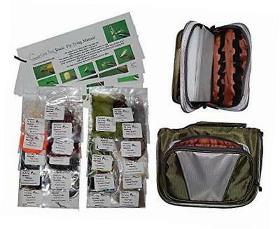 cascade trout fly tying material kit with essentials tying materials bag ?