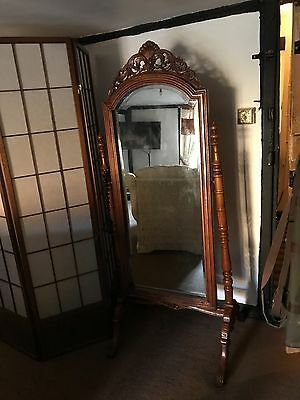 Reproduction Antique Mirror Full Length Swivels