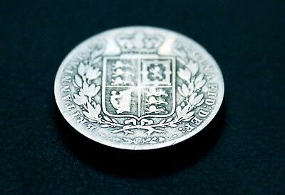 Queen Victoria Young Head Sterling-Silver Half Crown dated 1878