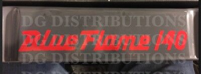 Chevy Valve Cover Decal 6-Cyl Blue Flame 140, 1956-1957 BEL AIR 210 150 HARD TOP