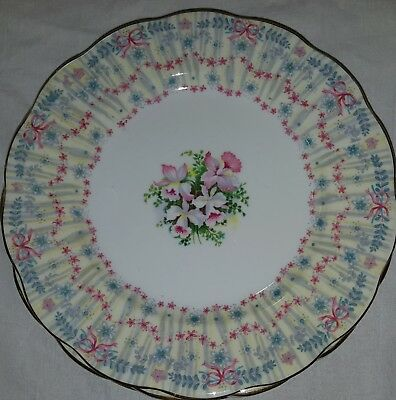 Set Of Four Queen Anne Bridal Gown Salad Plates