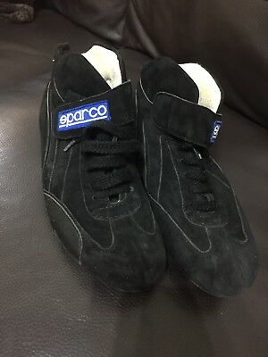 Black Sparco Fireproof Shoes Size 6.5
