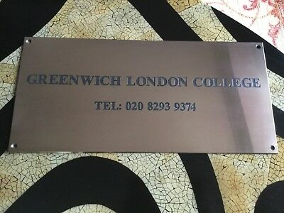 Brass Sign from Greenwich