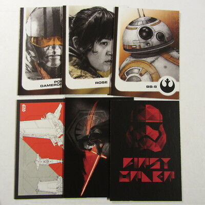 journey to STAR WARS: THE LAST JEDI x 6 Hobby edition chase cards - Topps 2017