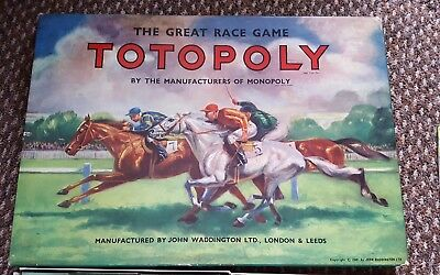 Vintage 1949 Totopoly Horse Racing Board Game