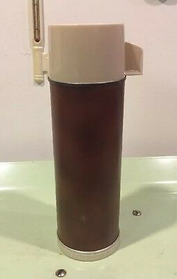 Vintage Aladdin 16 Oz. Pint Brown Thermos