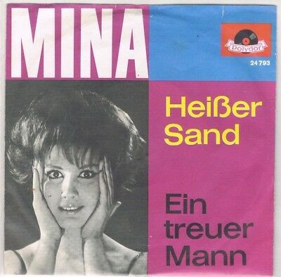 "7"" - MINA - HEISSER SAND - german PS"