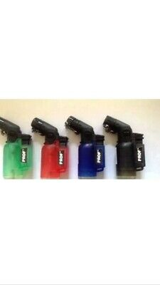 PROF ANGLED  Windproof PIPE LIGHTER Jet Flame Turbo Flame Refillable Tank