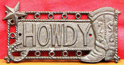 "Star & Boot ""Howdy""  Rope Sign Plaque Wall Mount Western Decor"