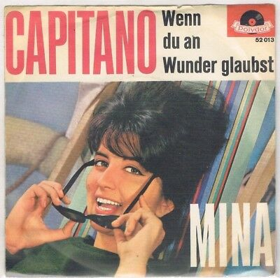"7"" - MINA - CAPITANO - german PS"