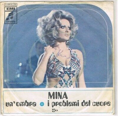 "7"" - MINA - UN ´OMBRA - german PS"