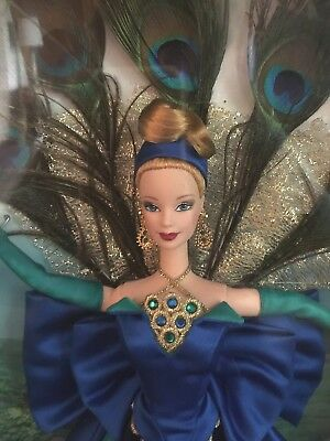 1998 The PEACOCK BARBIE Doll Collector BIRDS OF BEAUTY