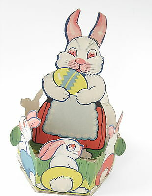 Vintage Easter Bunny Large Candy Containers  Heavy Paper Game Makers USA