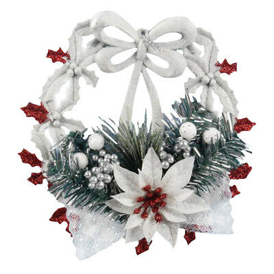 Christmas Wreath Garland Flowers Ornament Hanging Pendant Wall Decor Accessories