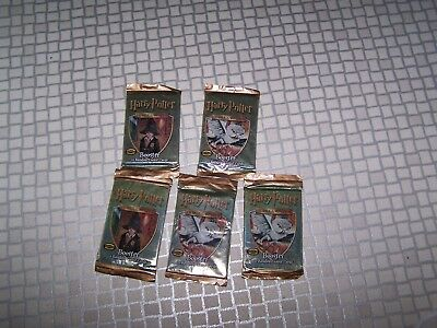 Harry Potter Trading Cards Booster  Game Cards 5X Packs Of 11 New Sealed Last!