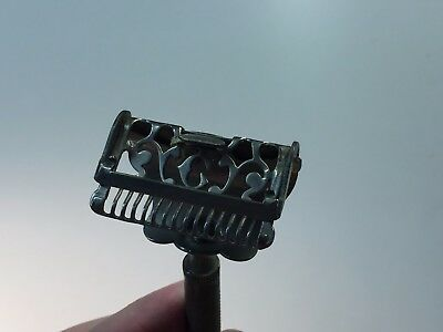 Very Ornate Vintage Gem Junior Mens Safety Razor  Beautiful Must See Rare!