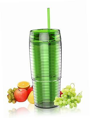 NEW SHH 20oz Cold Drink Tumbler with Straw, Green BRAND NEW