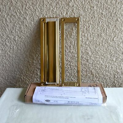 "Ives Solid Brass Magazine Letter Mail Slot Sc620B3 2"" X 11"" Bright Brass Finish"