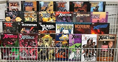 Lot of (25) X-MEN + RELATED GRAPHIC NOVELS TPB TRADES MARVEL WOLVERINE X-FORCE
