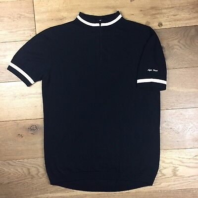 Cycling Jersey - Retro 'Alpe Deux' 100% Merino Wool (MOD, CYCLING) - Size: LARGE