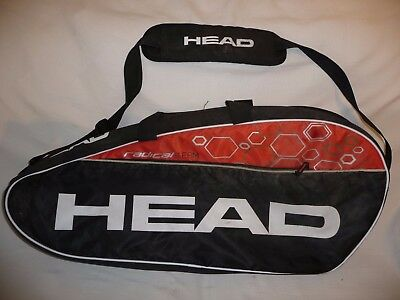 Head Radical Team Tennis Squash Racket Carry Shoulder Bag Holdall Black & Orange