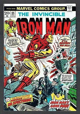 Invincible Iron Man #65 Vs. Dr. Spectrum Marvel Comics 1973 VF+ Tony Stark