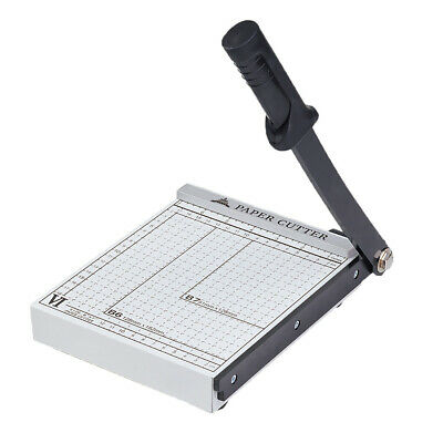 Practical PAPER CUTTER Steel Blade Manual Stack Paper Cutter White