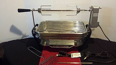 Farberware Open Hearth Smokeless Indoor Grill With Rotisserie W/Motor