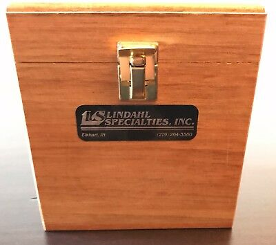 Vintage Lindahl Specialties, Inc  Wood Box with 3 glass filters